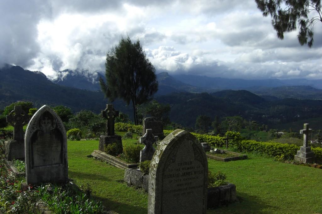 Christlicher Friedhof in der Nähe von Haputale
