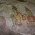 Felsmalereien in Sigiriya